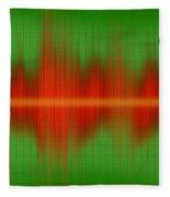 Close-up Of Sound Waves Fleece Blanket