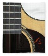 Close-up Of Steel-string Guitar Fleece Blanket