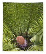 Close-up Palm Leaves Fleece Blanket