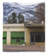 Closed Service Station Painterly Impressions Fleece Blanket