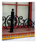 Closeup Of Window Decorated With Terracotta Tiles And Wrought Iron Photograph By Colleen Fleece Blanket