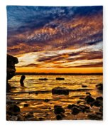 Closing Colors Fleece Blanket