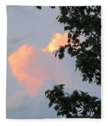 Cloud And Blue Sky Fleece Blanket