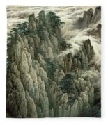 Cloud And Mountain Peak Fleece Blanket