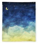 Cloud And Sky At Night Fleece Blanket