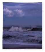 Cloud And Wave Seaside New Jersey Fleece Blanket