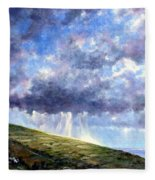 Cloud Burst Ireland Fleece Blanket