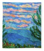 Cloud Color Fleece Blanket