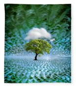 Cloud Cover Recurring Fleece Blanket