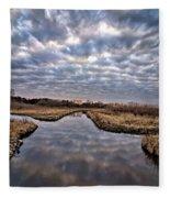 Cloud Covered River 2 Fleece Blanket