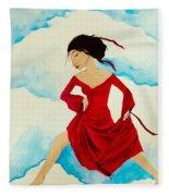 Cloud Dancing Of The Sky Warrior Fleece Blanket