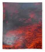 Cloud Fire With Rays Fleece Blanket