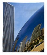 Cloud Gate And Aon Center Fleece Blanket