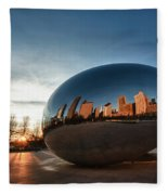 Cloud Gate At Sunrise Fleece Blanket