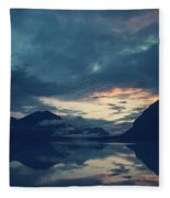 Cloud Mountain Reflection Fleece Blanket