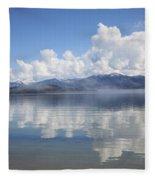 Cloud Reflection On Priest Lake Fleece Blanket