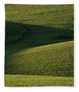 Cloud Shadows On New Growing Crop Fleece Blanket