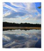 Cloud Show, Reflected Fleece Blanket
