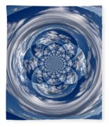 Cloud Spiral Fleece Blanket