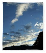 Cloud Sweep And Silhouette Fleece Blanket