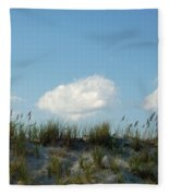 Cloud Trio And Dunes - Huntington Beach Sc Fleece Blanket