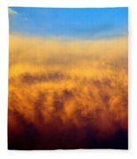 Clouds Ablaze Fleece Blanket