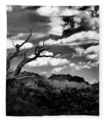 Clouds And A Tree Baw Fleece Blanket