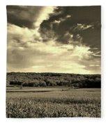 Clouds And Cornfields Fleece Blanket