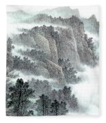 Clouds And Mountains Fleece Blanket