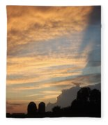 Clouds And Silos  Fleece Blanket