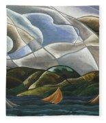 Clouds And Water Fleece Blanket