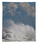 Clouds And Waves Fleece Blanket