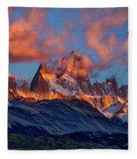 Clouds Around Fitz Roy - Patagonia Fleece Blanket