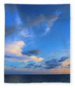 Clouds Drifting Over The Ocean Fleece Blanket