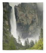 Clouds Hang Over Bridaveil Falls Fleece Blanket