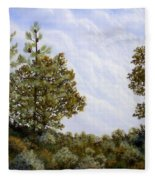 Clouds In Foothills Fleece Blanket