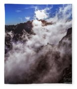 Clouds In The Caldera De Taburiente Fleece Blanket