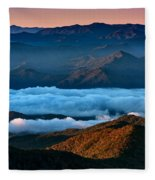 Clouds In The Valley Fleece Blanket