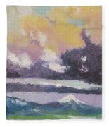 Clouds Of Mt Hood Fleece Blanket