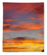 Clouds On Fire Fleece Blanket