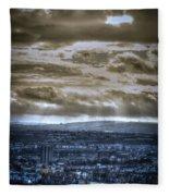 Clouds Over Bristol Hdr Split Toning Fleece Blanket