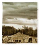 Clouds Over Cemetery Fleece Blanket