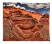Clouds Over Coyote Buttes North Fleece Blanket
