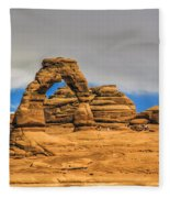 Clouds Over Delicate Arch Fleece Blanket