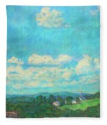 Clouds Over Fairlawn Fleece Blanket