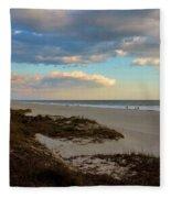 Clouds Over Holden Beach Fleece Blanket