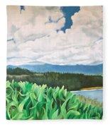 Clouds Over Kauai Fleece Blanket