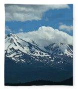Clouds Over Mt Shasta Fleece Blanket