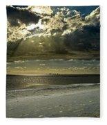 Clouds Over The Bay Fleece Blanket