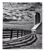 Clouds Over The Farm Fleece Blanket